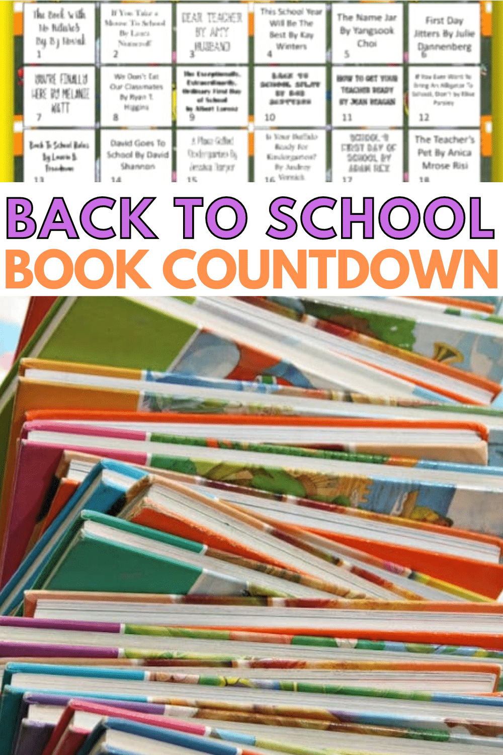 This printable back to school book countdown calendar is perfect for children starting kindergarten. Reading books about school will make them feel at ease. #reading #printables #backtoschool via @wondermomwannab