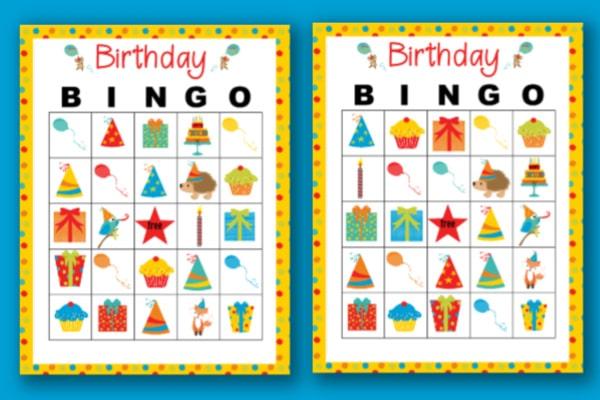 Birthday Bingo for boys or girls