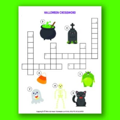 Halloween Crossword Puzzle for Kids