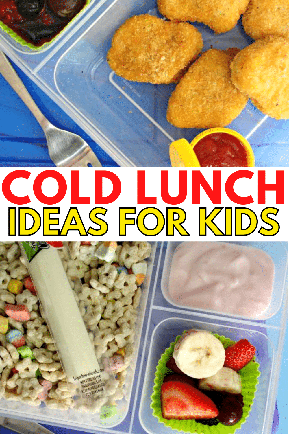 No more boring lunches with these 15 cold lunch ideas for kids. Easy to plan ahead of time and put together in the morning for delicious school lunch. #schoollunch #lunchideas #kidslunch via @wondermomwannab