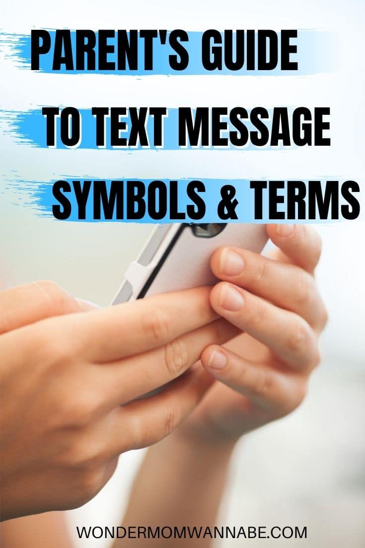 This parent's guide to text message symbols is a virtual dictionary of text message abbreviations and emojis. Finally, I can decipher the messages from my kids! #parenting #textmessaging #cellphones via @wondermomwannab