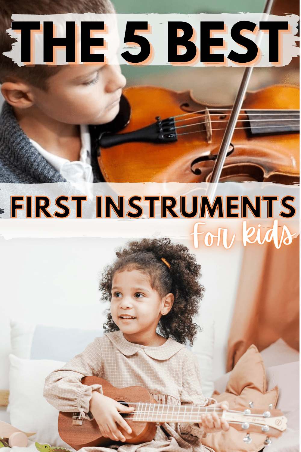 Music is so beneficial for children, especially when they learn to create it on their own. These are some of the best instruments for children to learn to foster a love of music. #childrenandmusic #firstinstruments via @wondermomwannab