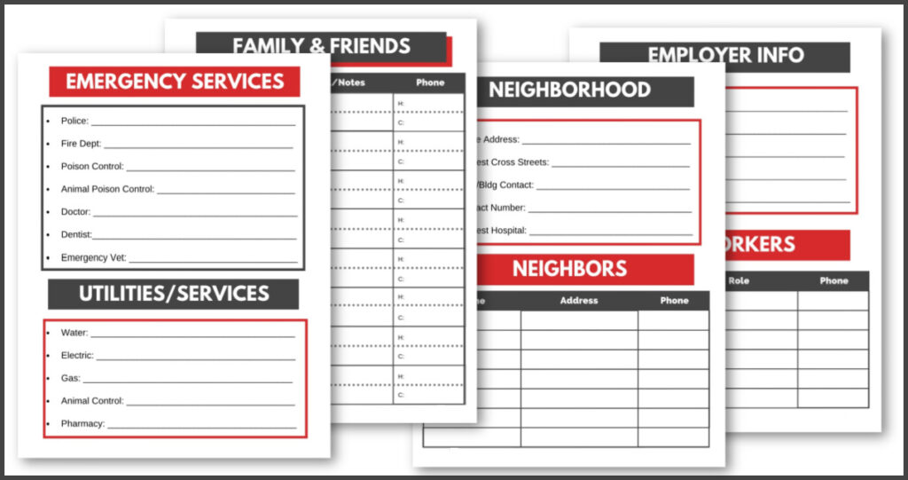 printable emergency forms
