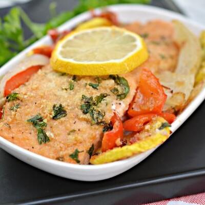 Keto Parmesan Crusted Baked Salmon