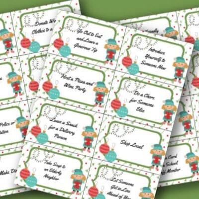 printable Christmas kindness cards
