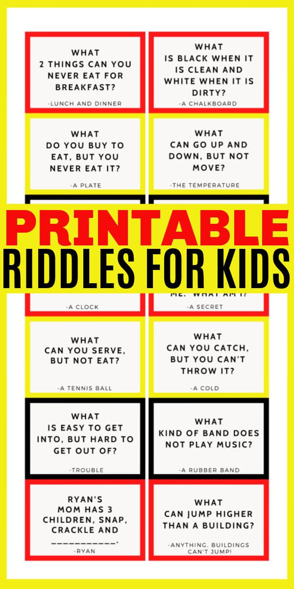 These printable riddles for kids are fun to solve and will get your child thinking critically and creatively to solve these word puzzles. #riddles #printables #activitiesforkids via @wondermomwannab