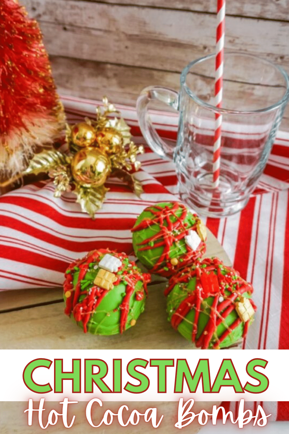 With just 6 simple ingredients needed, you're going to love the ease and flavor of these Christmas Hot Cocoa Bombs! #hotcocoa #hotcocoabombs #hotchocolate #christmas via @wondermomwannab