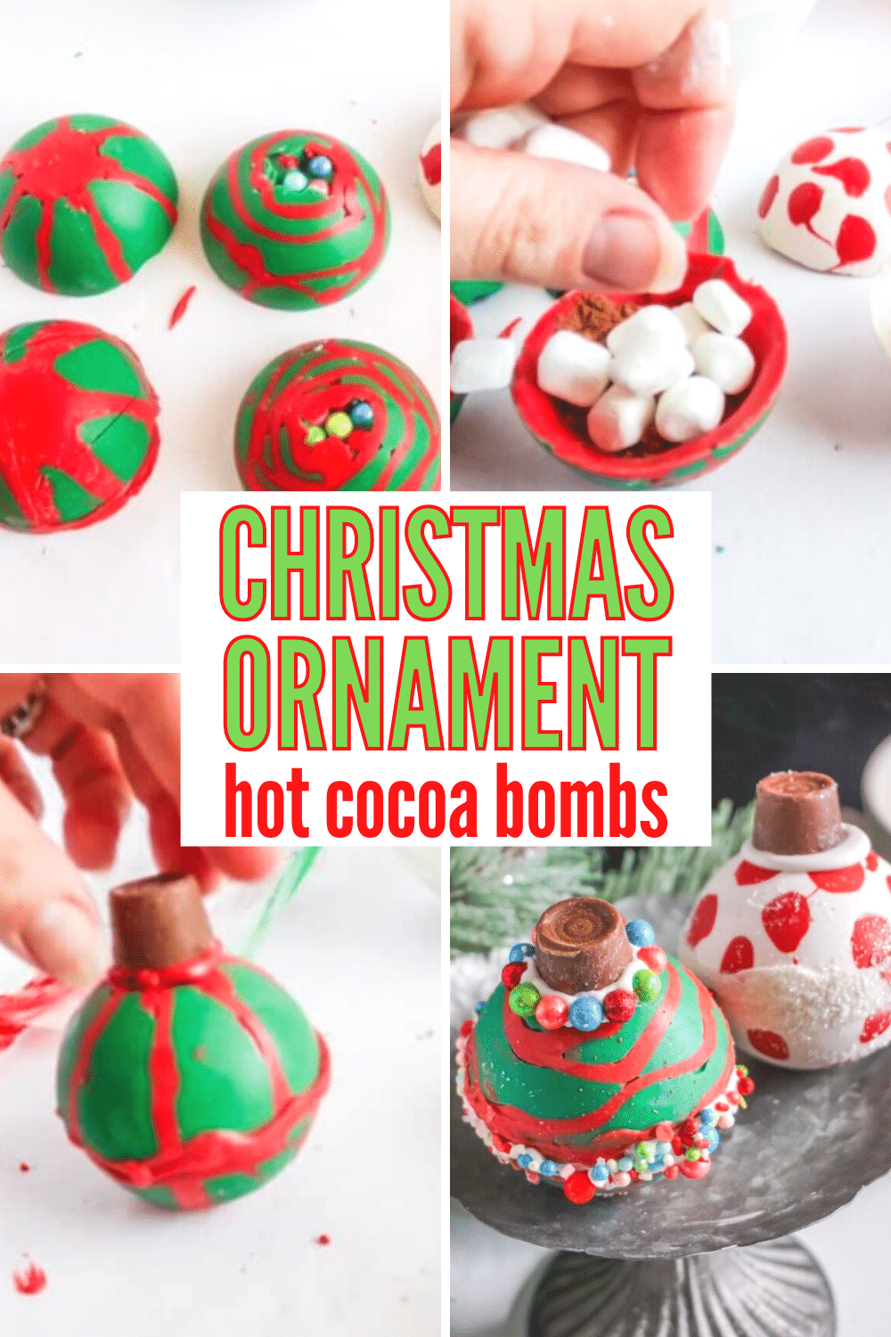 Just when you thought that the holiday season couldn't get any better, along comes these Christmas Ornament Hot Cocoa Bombs! #hotcocoabombs #hotcocoa #christmasornament #holidaytreats via @wondermomwannab