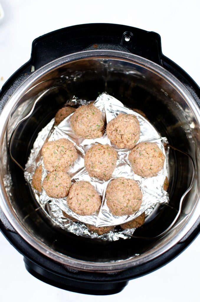Instant Pot Swedish Meatballs in an instant pot before being cooked