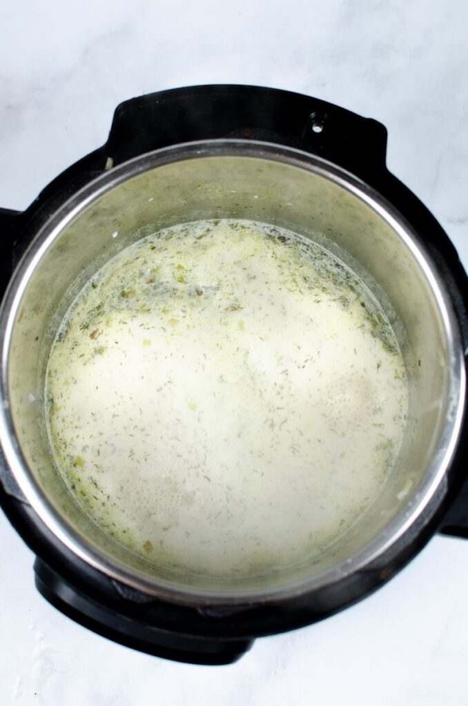 Creamy Swedish sauce in an instant pot.