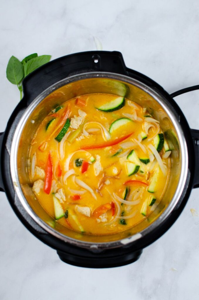 Instant Pot Thai Red Chicken Curry in an instant pot