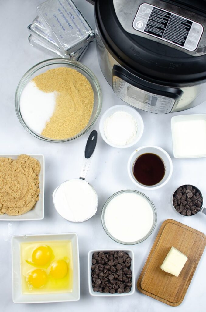 ingredients needed for instant pot mini turtle cheesecakes