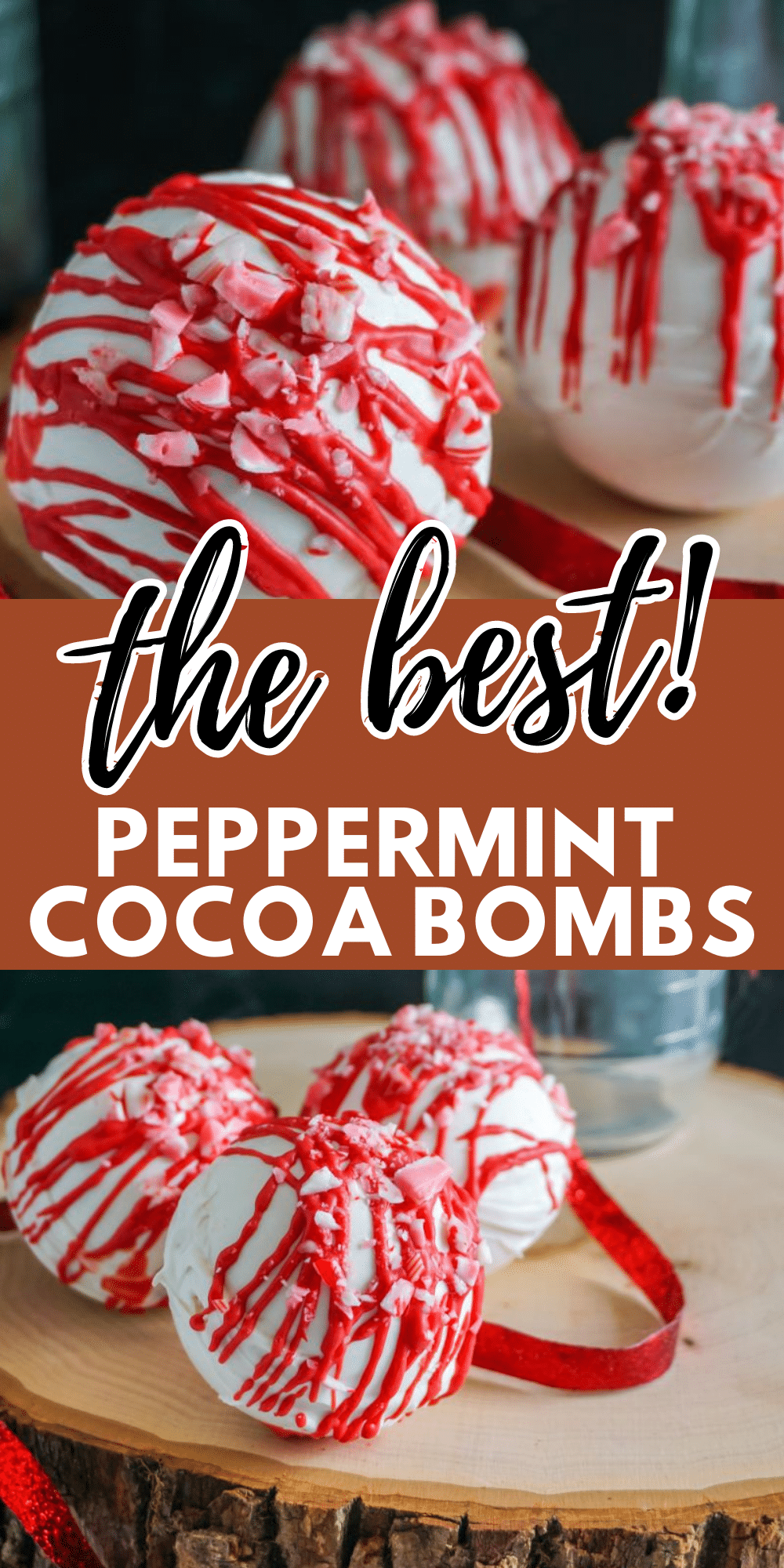 Peppermint Hot Cocoa Bombs are full of minty goodness! So much mint flavor in your cup of hot cocoa! Great for winter! #hotcocoabombs #hotcocoa #winter #peppermint via @wondermomwannab