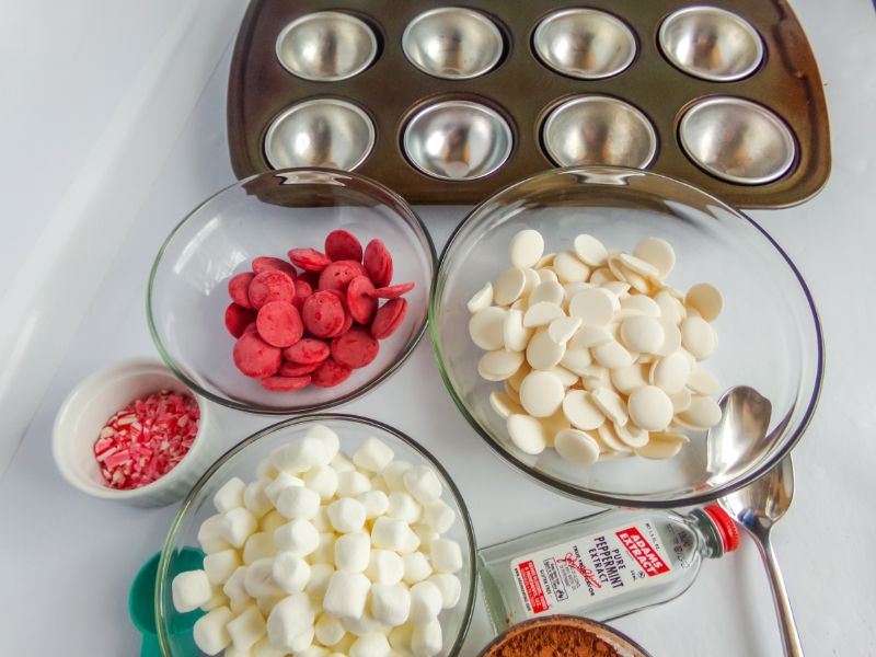 ingredients needed for hot cocoa bombs