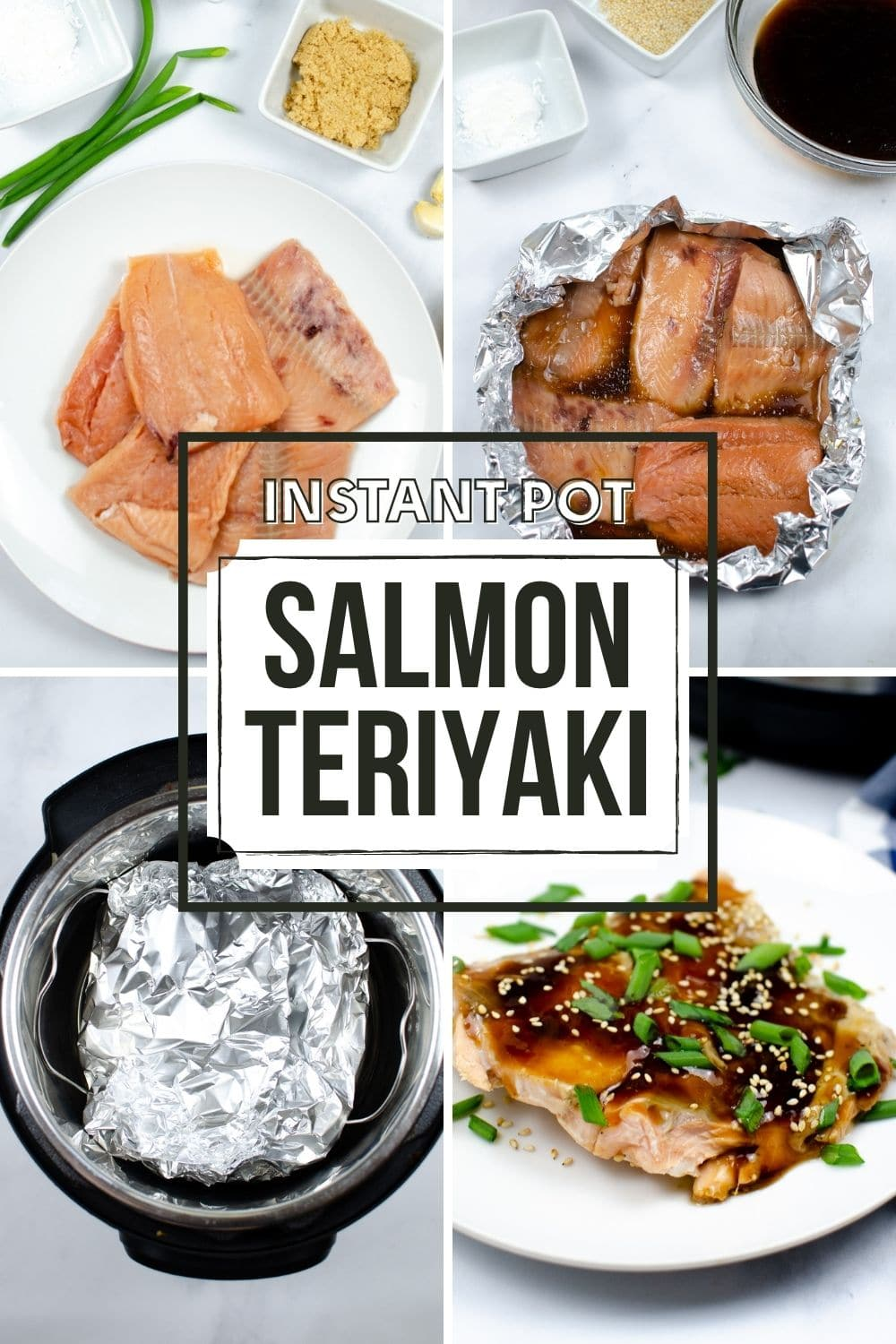 This juicy, moist, and tender flakey salmon in a brown homemade Teriyaki Sauce is ready in just 15 minutes in an instant pot. #instantpot #salmon #teriyakisauce #dinner #recipe via @wondermomwannab