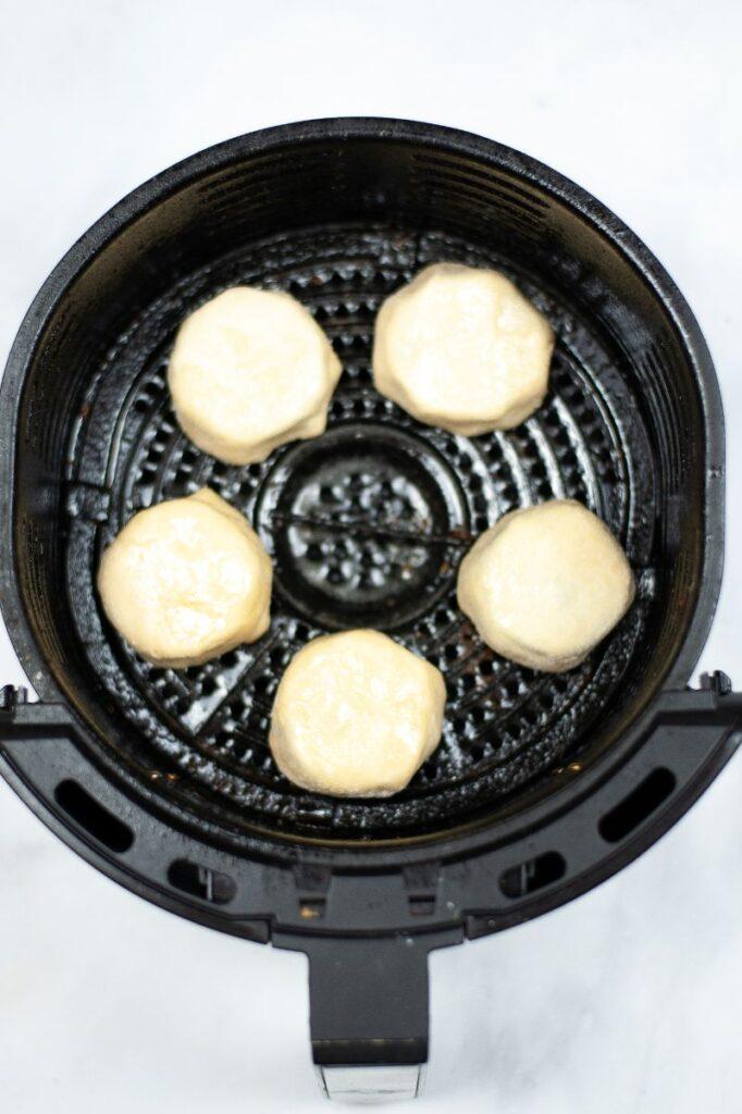 coated oreos in an air fryer