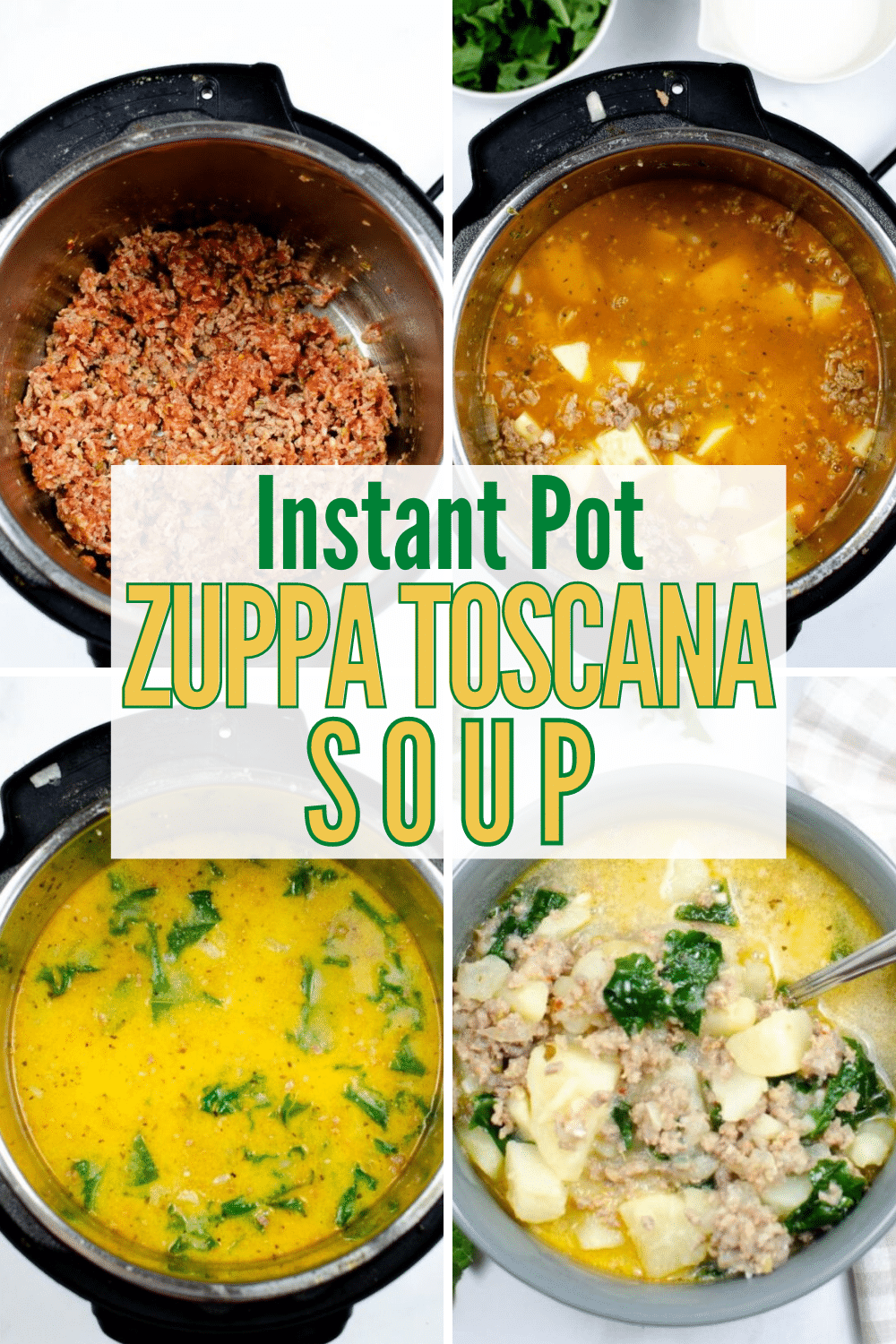 You're going to love this Instant Pot Zuppa Toscana. You can make this Olive Garden favorite right at home in your pressure cooker! #instantpot #soup #recipe via @wondermomwannab