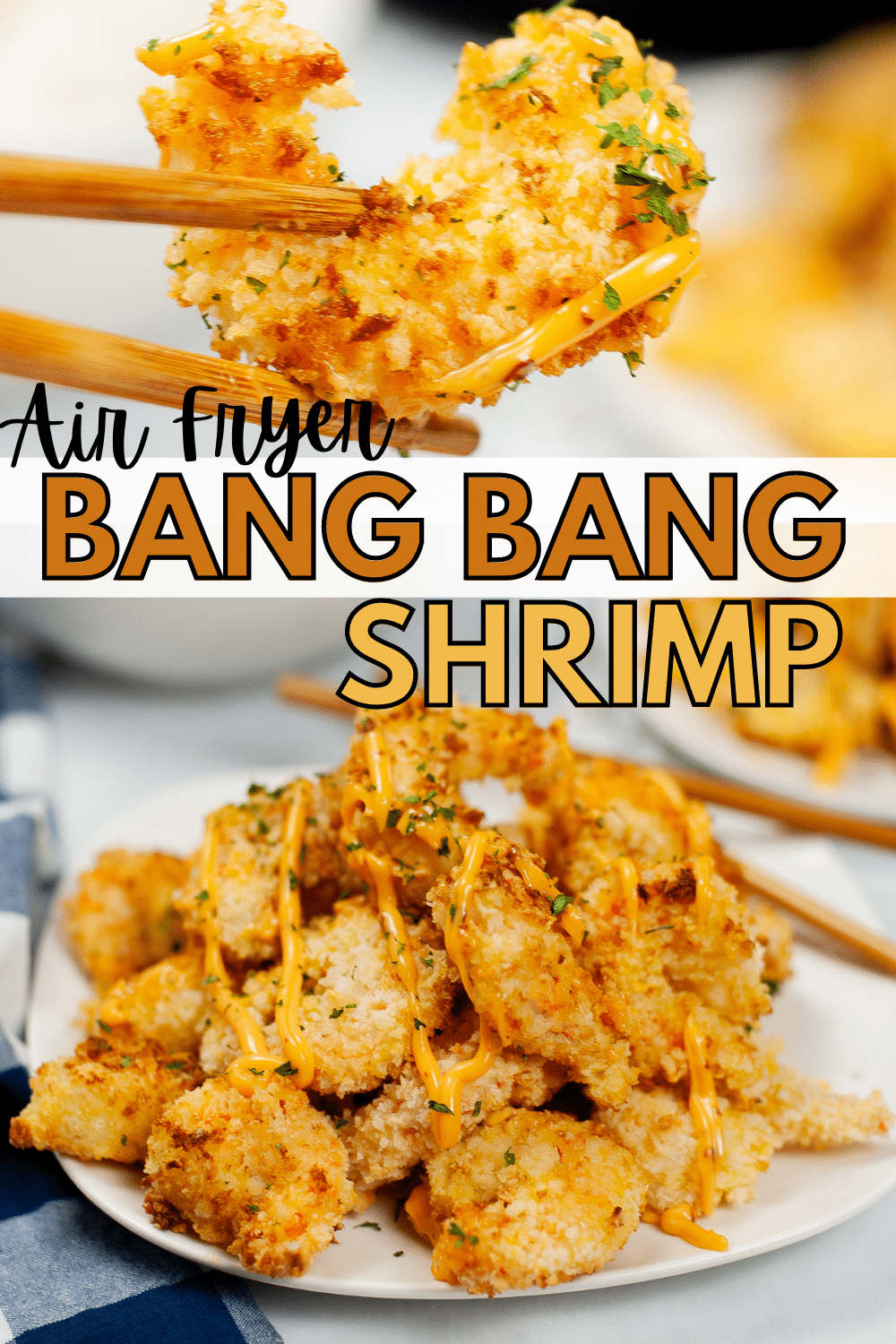 This Air Fryer Bang Bang Shrimp with a creamy spicy chili sauce makes a crowd-pleasing bite-sized appetizer or a delicious meal. #airfryer #bangbangshrimp #appetizer #dinner via @wondermomwannab