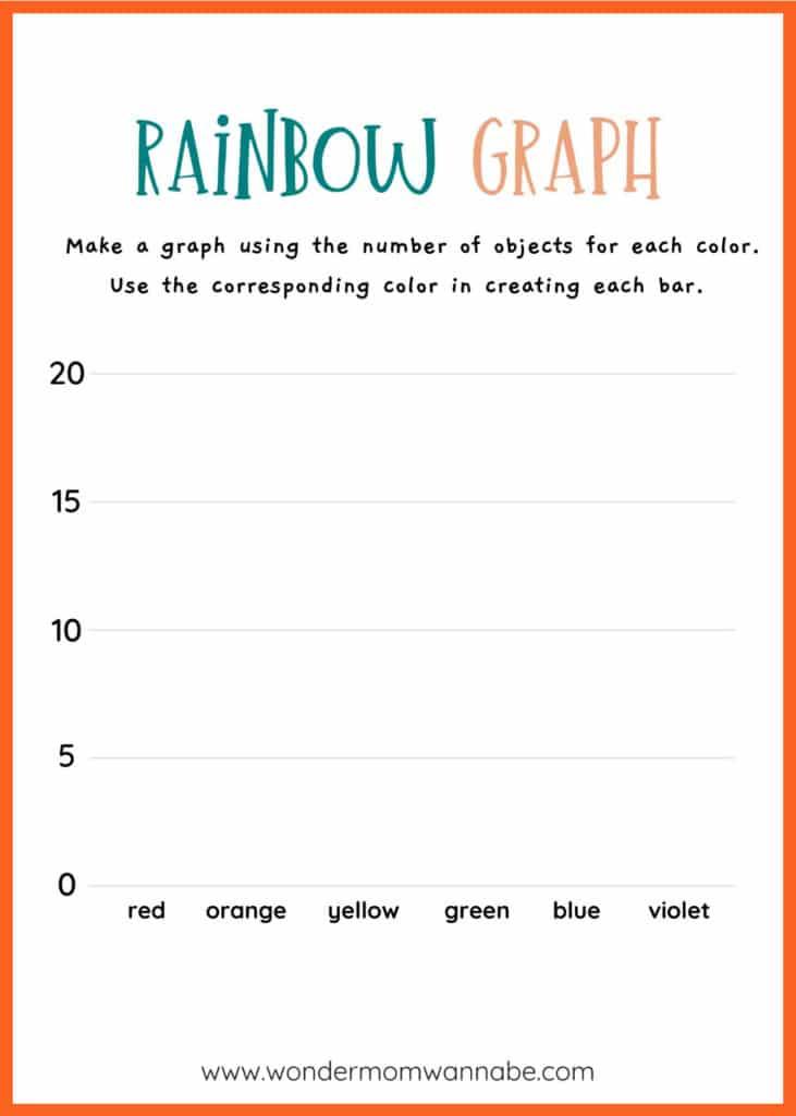 printable rainbow graph worksheet