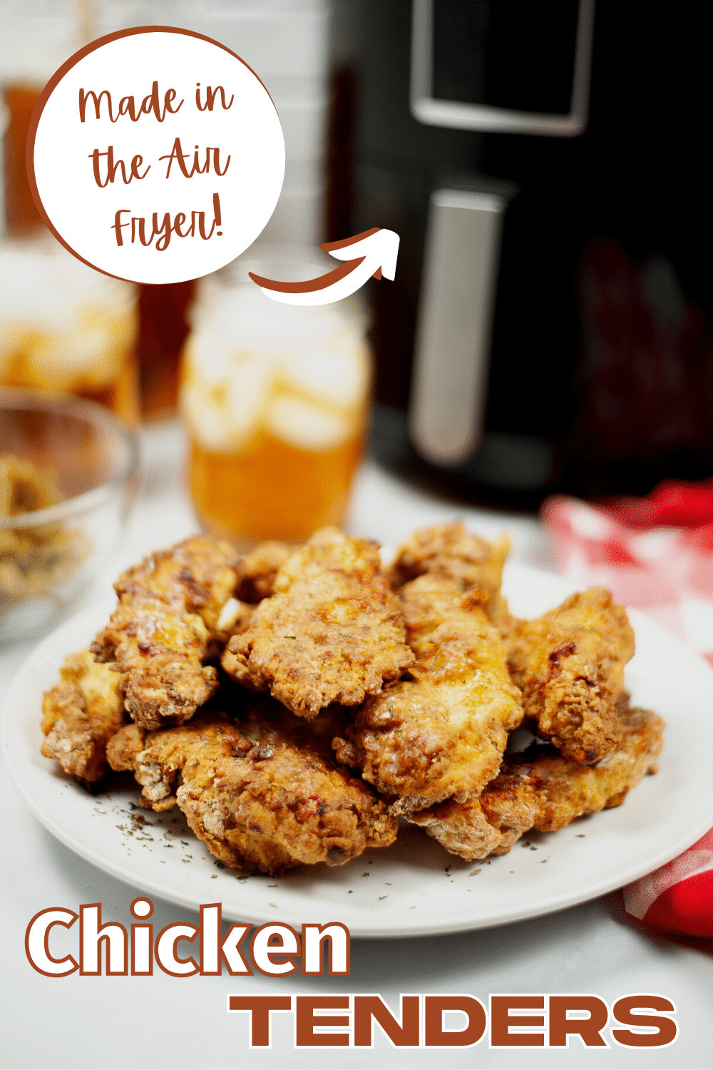Air Fryer chicken tenders are crispy on the outside and juicy on the inside. You'll never want to eat fried chicken again! #airfryer #chickentenders #chicken #recipe via @wondermomwannab