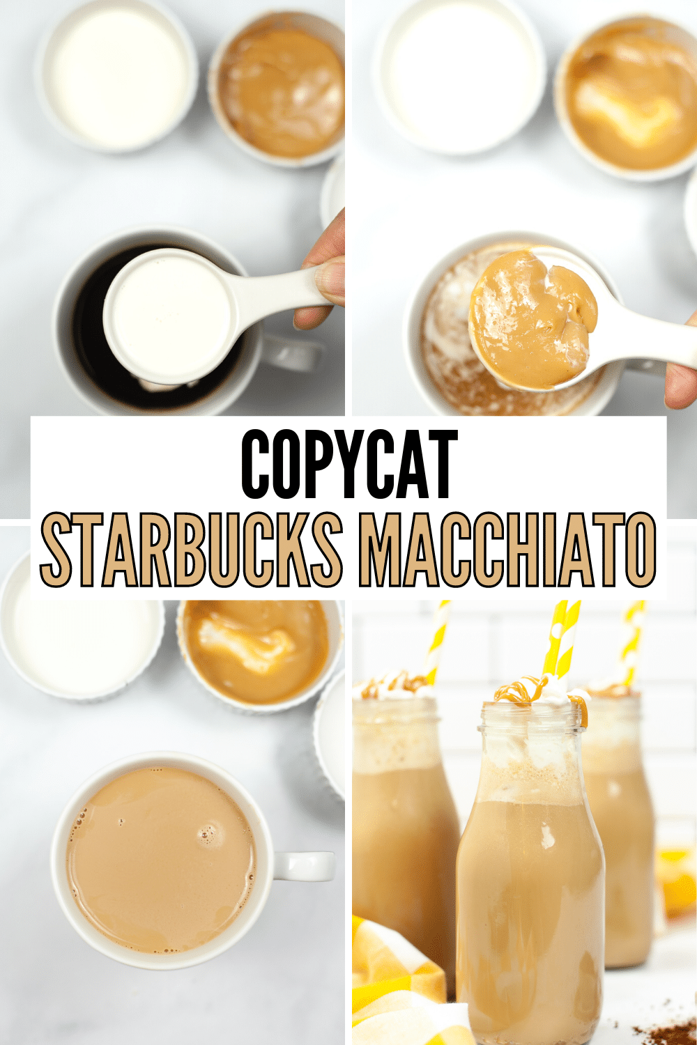 This Copycat Starbucks Iced Caramel Macchiato Recipe tastes just like the real deal. Save money & make it at home for a fraction of the cost! #copycatstarbucks #icedcaramelmacchiato #savemoney #recipe via @wondermomwannab