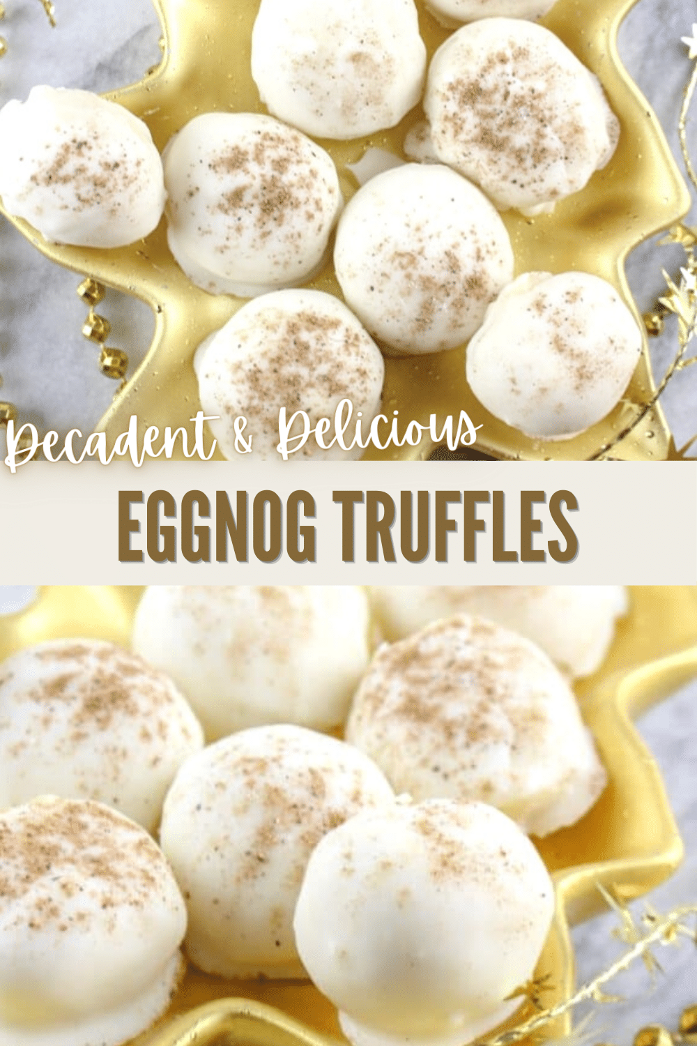 These eggnog truffles are so yummy and perfect for Christmas! Give them as a gift or serve at your holiday party. #Christmas #candy #eggnog via @wondermomwannab