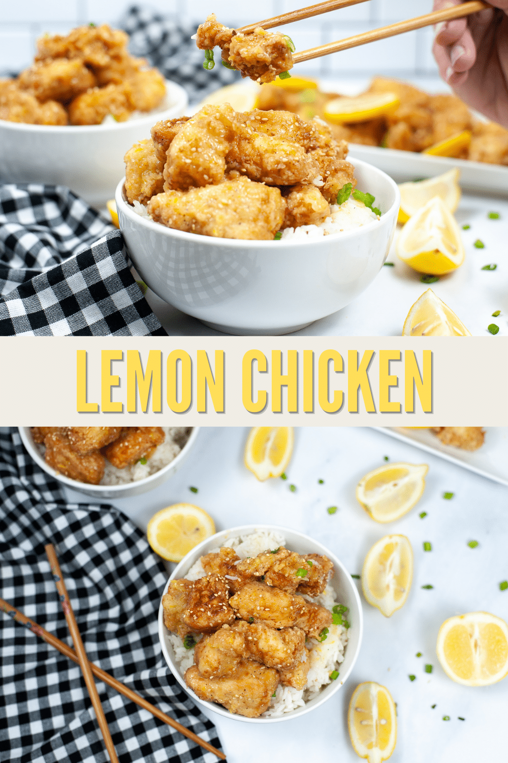 Lemon Chicken is so easy to make. This simple dish is coated in sweet and tangy citrus sauce, and can be on the table in 45 minutes. #lemonchicken #chinesefood #chicken #recipe via @wondermomwannab