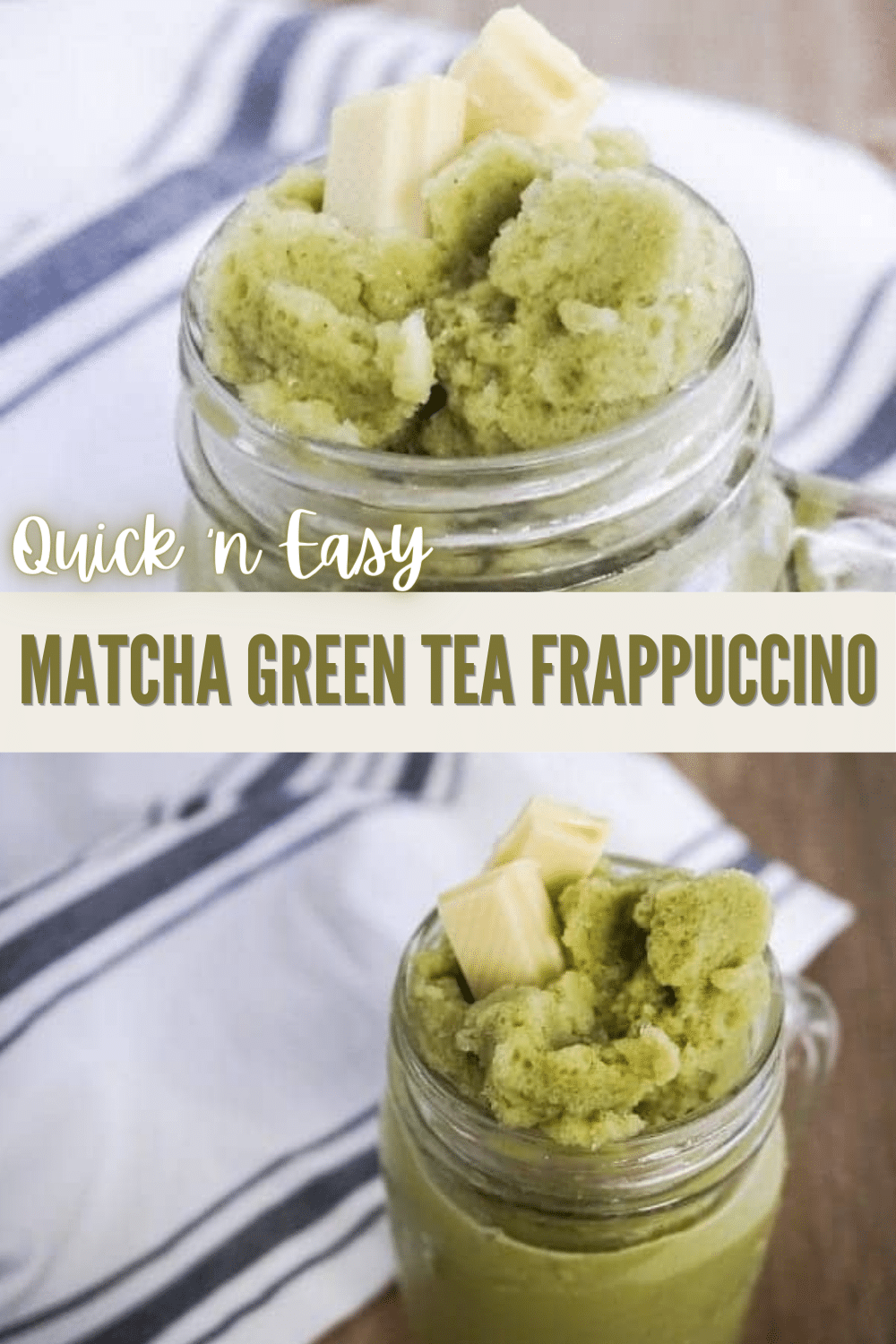 If you're a green tea lover, you should try this fool-proof classic matcha green tea frappuccino recipe. You can make it in just 5 minutes! #matchagreentea #frappuccino #recipe #greentea via @wondermomwannab