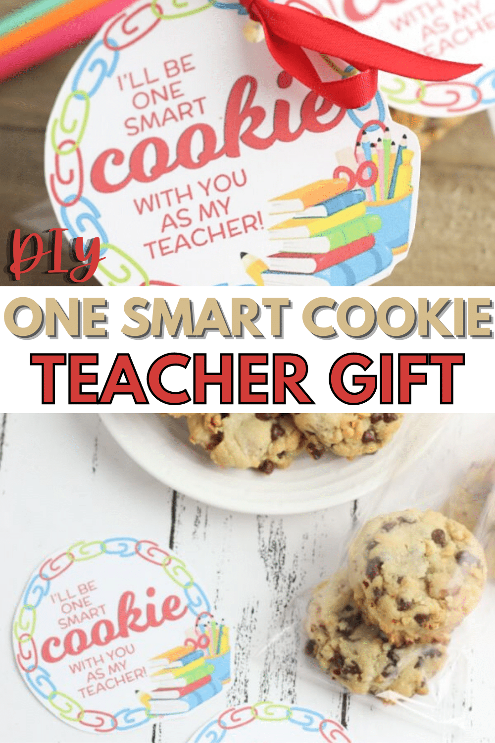 Giving a One Smart Cookie Teacher Gift is the perfect way to start off your child's school year. Grab a printable gift tag and attach it to some cookies. #printables #teachergifts #gifttags via @wondermomwannab