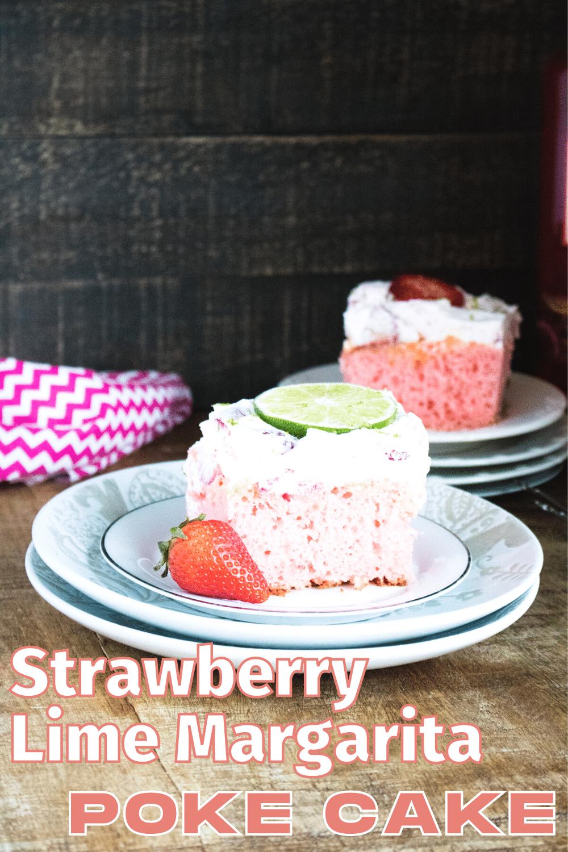 This strawberry margarita poke cake is the best way to go! Make every occasion extra special with this crowd's favorite boozed-up cake. #pokecake #strawberrymargarita #cake #dessert #recipe via @wondermomwannab