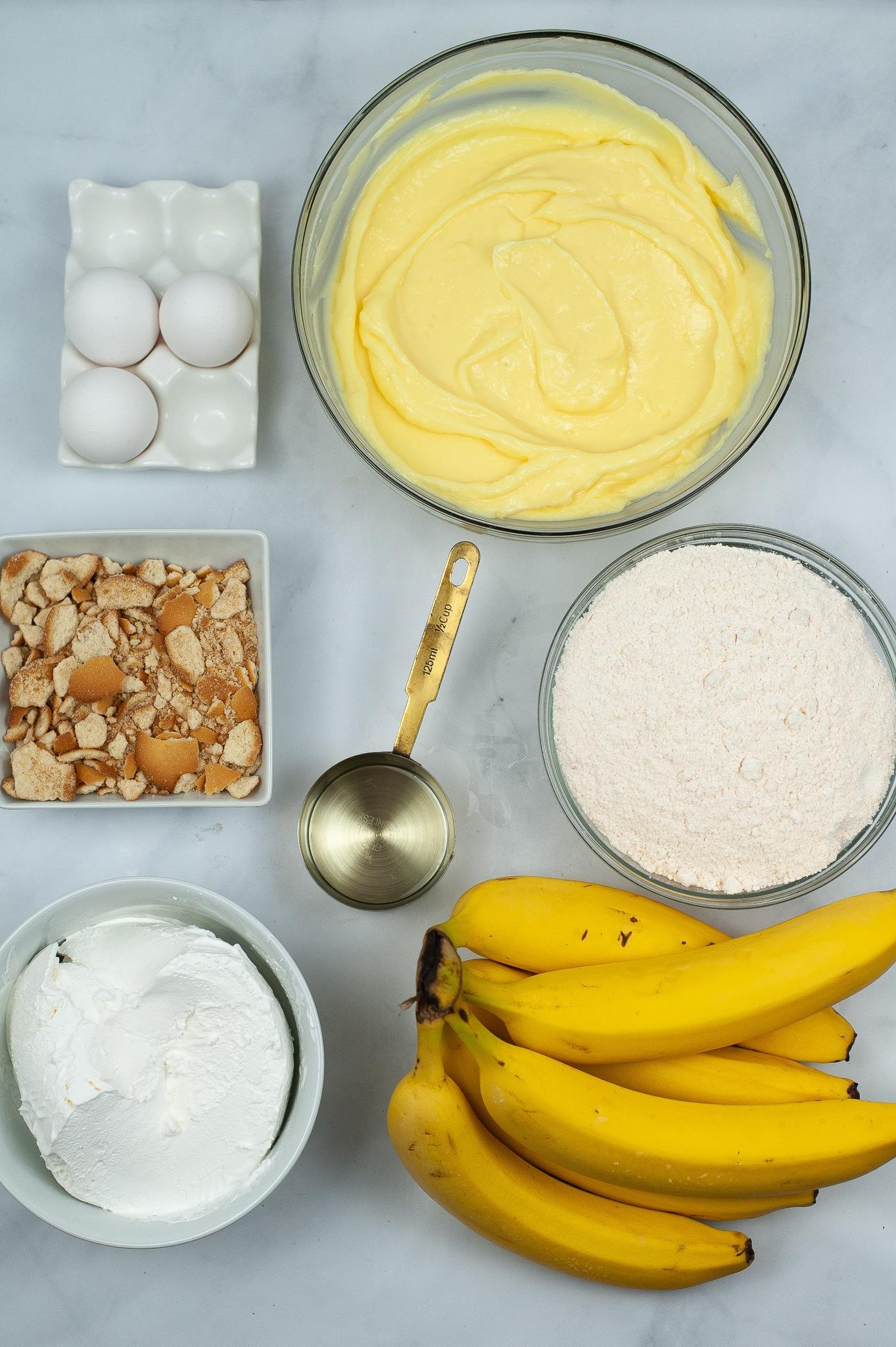 ingredients needed to make banana poke cake