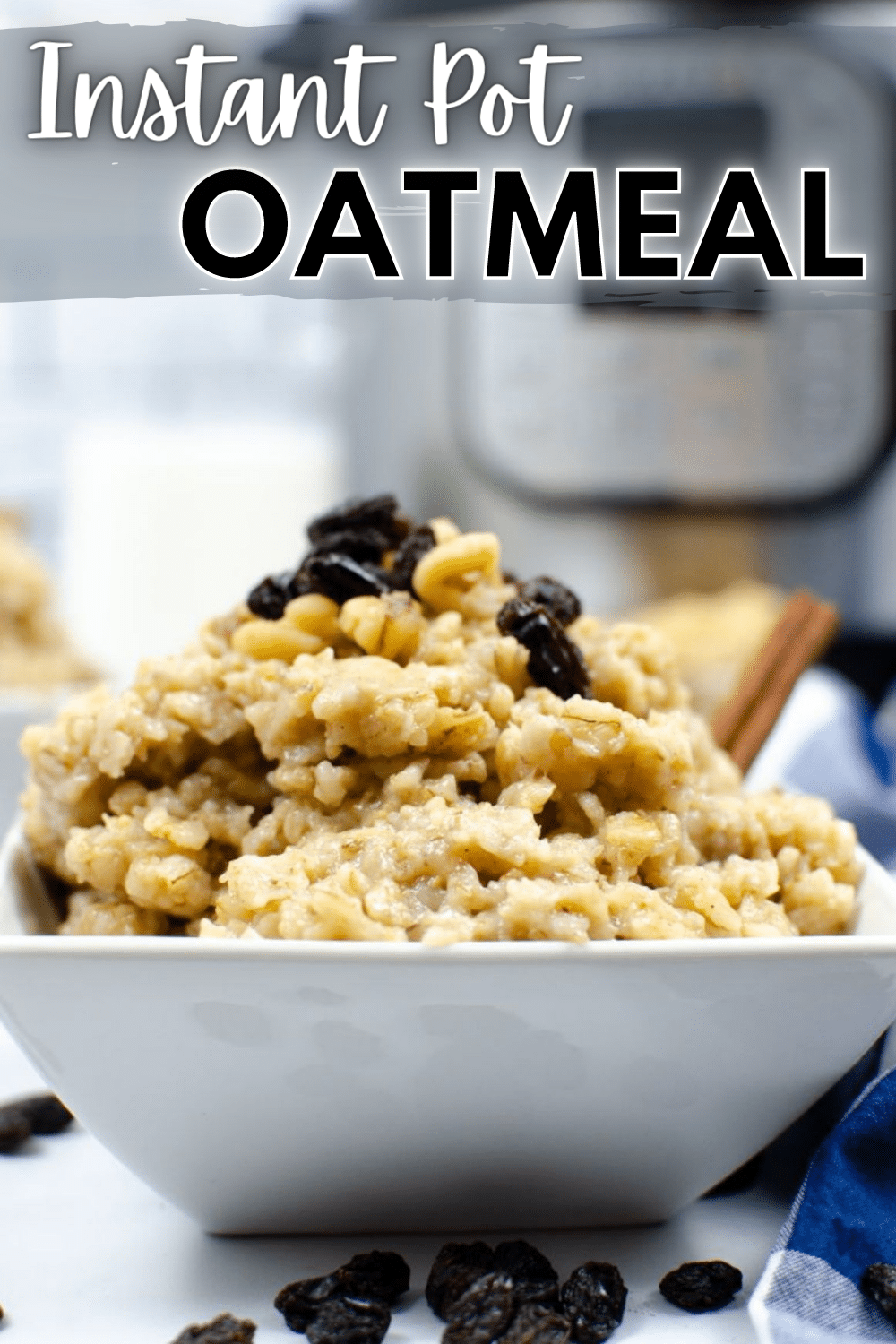 Instant Pot Oatmeal is perfect for busy mornings! This easy recipe cooks while you get ready for the day, making your morning less stressful. #instantpot #pressurecooker #oatmeal #breakfast #recipe via @wondermomwannab