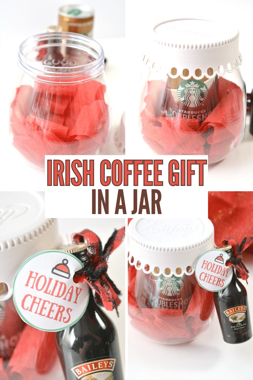 This Irish Coffee Gift in a Jar is such a cute gift idea and SO EASY to put together! #easygiftidea #coffeegifts via @wondermomwannab